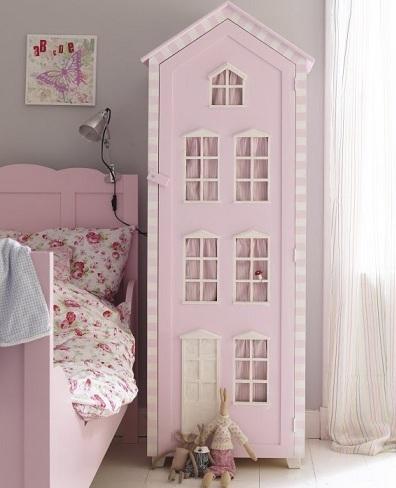armario infantil casita rosa
