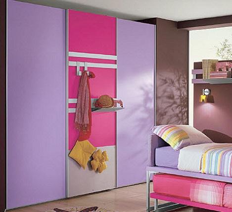 armario infantil rosa grande