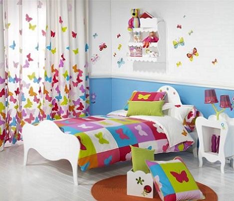cortinas infantiles mariposas