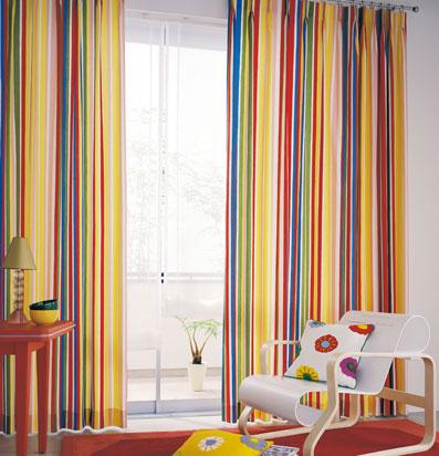 cortinas infantiles rayas colores