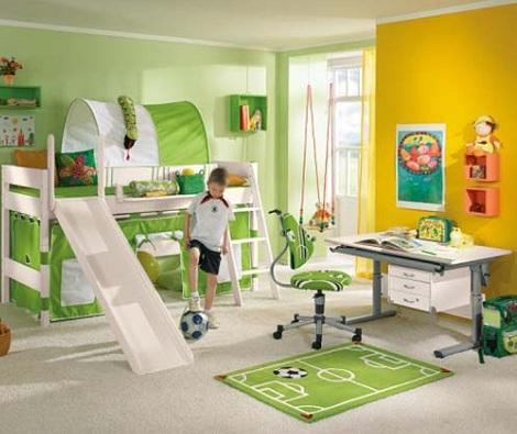 decorar habitacion nino futbol