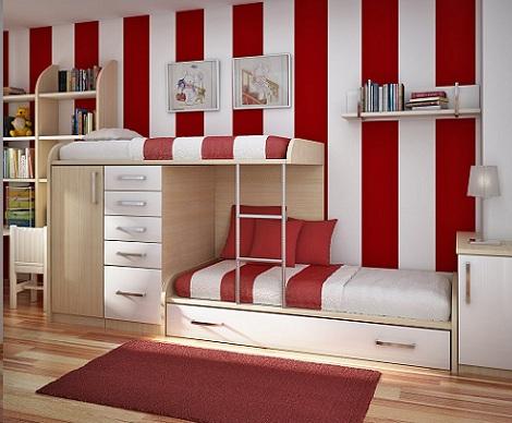 decorar habitacion nino literas