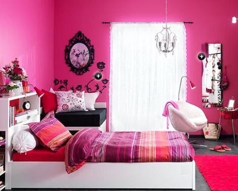 Dormitorio chica fucsia