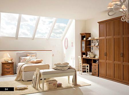 Dormitorio clásico infantil