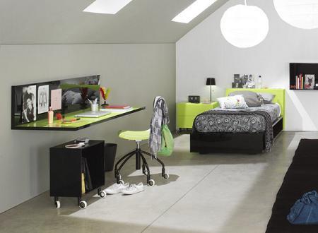 escritorio habitacion juvenil volado