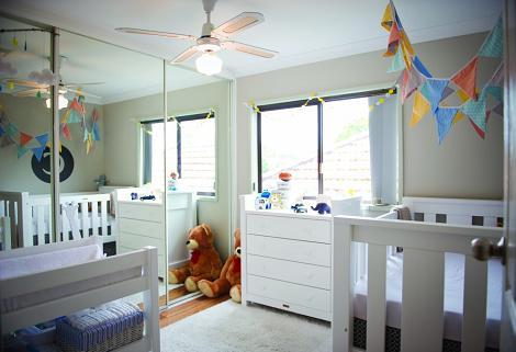 Habitación del bebé en gris