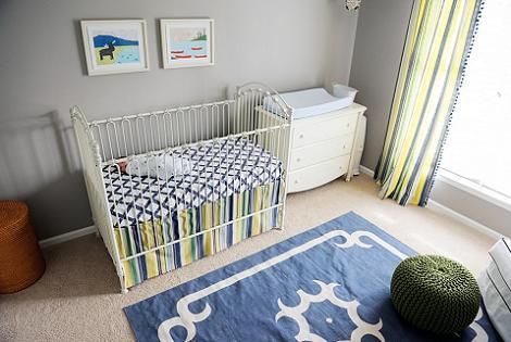 Habitación de bebé navy