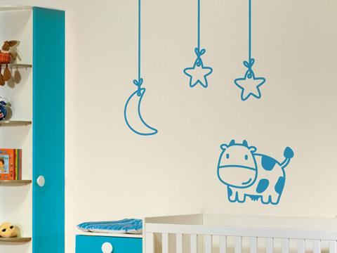 habitacion bebe vinilo vaca