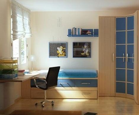 habitacion juvenil chico azul