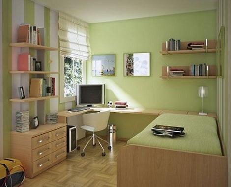 habitacion juvenil chico verde