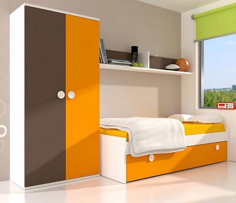 Habitación juvenil con muebles Tuco