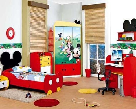 habitacion mickey mouse muebles