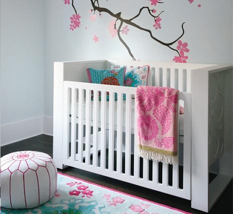 habitaciones bebe rosa minimal