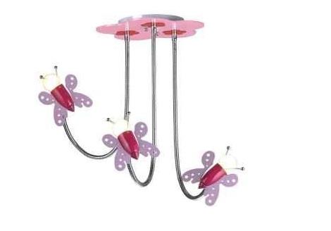 luces habitacion infantil mariposas