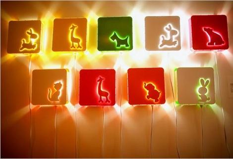 luces habitacion infantil pared