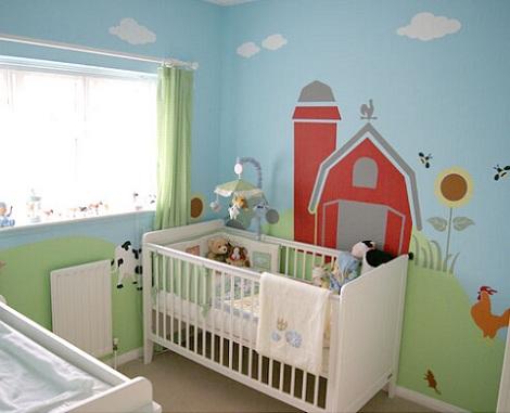 murales bebe granja