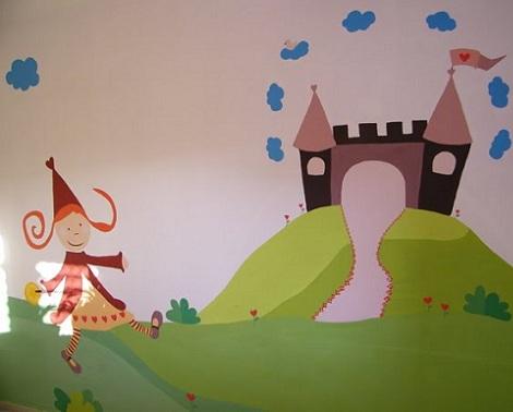 murales bebe princesa