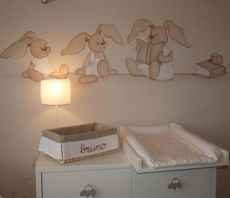 murales infantiles conejos enfants