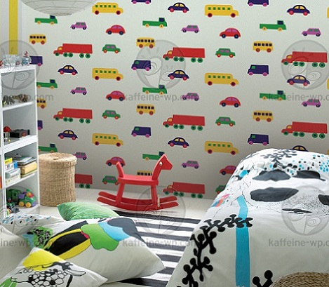 papel pintado infantil coches