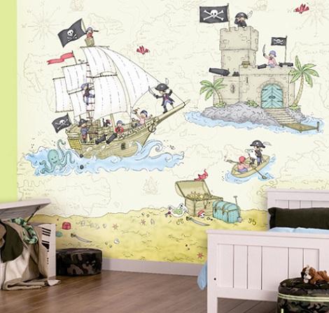 papel pintado infantil piratas