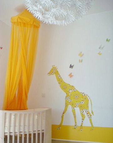 pintar habitacion bebe amarillo vinilo