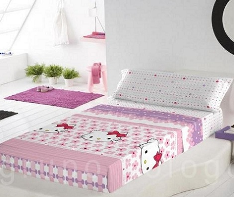 sabanas infantiles hello kitty