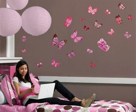 vinilos habitacion juvenil mariposas