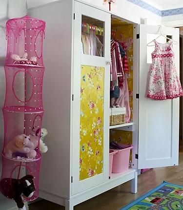 5 armarios infantiles originales forrado
