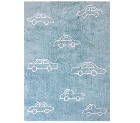 alfombra coche celeste