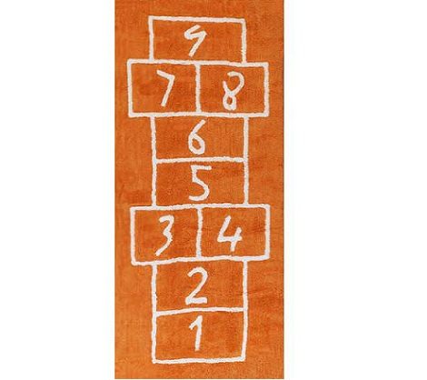 alfombra pata naranja