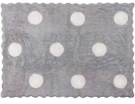 alfombra topos gris