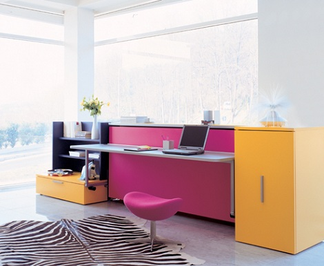 camas plegables ninos escritorio