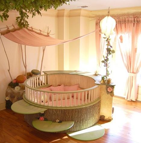 como decorar la habitacion del bebe bosque
