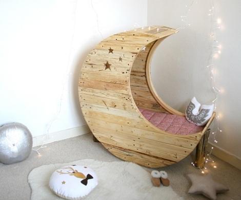 como decorar la habitacion del bebe luna