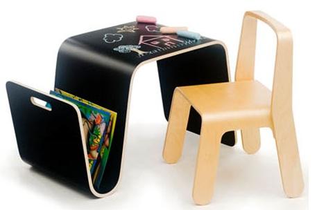 escritorios para ninos pizarra curva