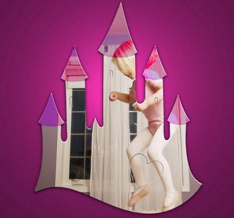 espejos decorativos para ninos castillo