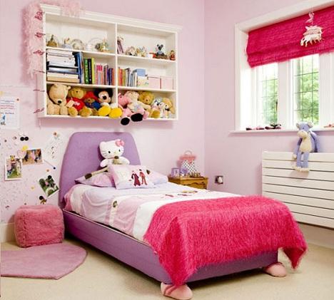 estores habitacion infantil rosas