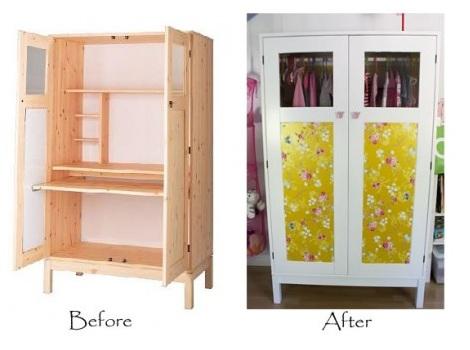 forrar armario infantil papel antes