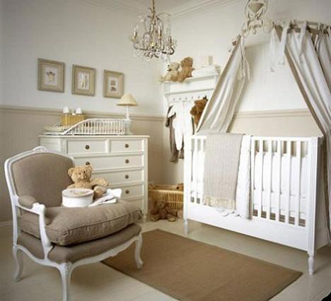 habitacion bebe princesa gris