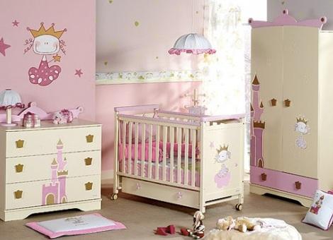 habitacion bebe princesa muebles