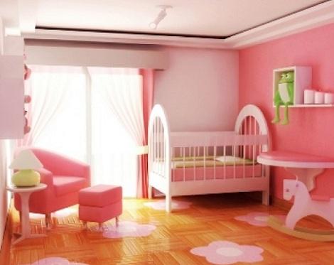 habitacion bebe princesa paredes