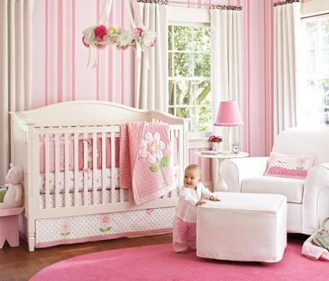 habitacion bebe princesa rayas