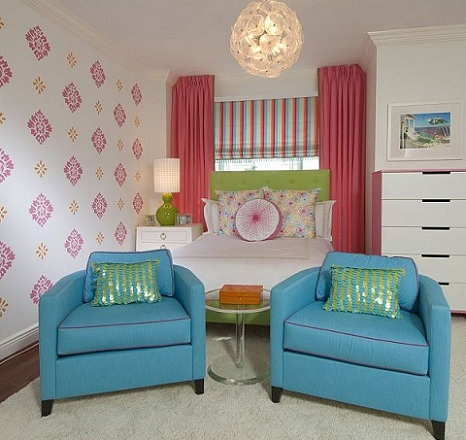 habitacion juvenil chica sofa