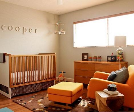 habitacion bebe inspiracion moderna naranja