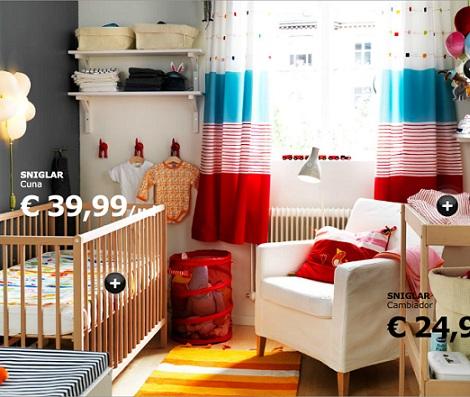 habitaciones ikea bebe colores