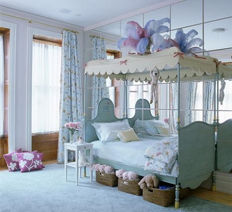 habitaciones ninas azul