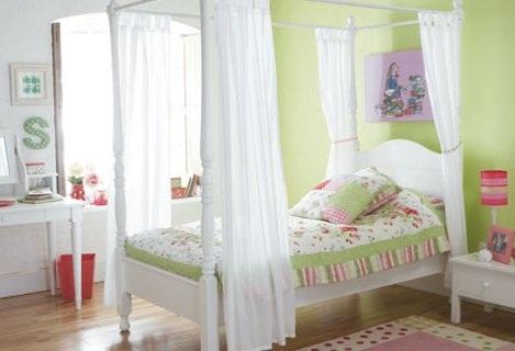 habitaciones ninas verde