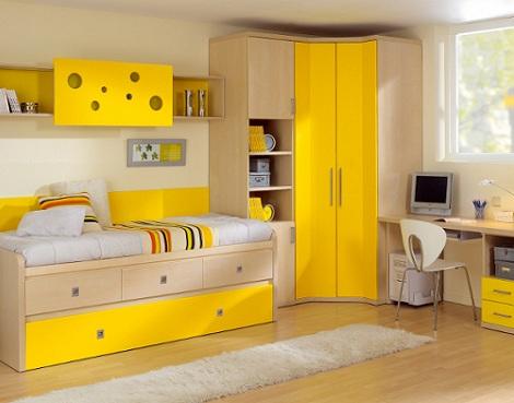 ideas habitaciones juveniles amarillo