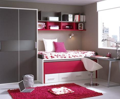 Ideas para habitaciones juveniles for Habitaciones juveniles chica