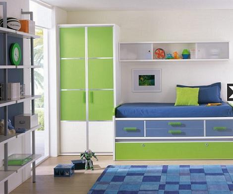 ideas habitaciones juveniles chico verde